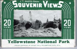YELLOWSTONE NATIONAL PARK, SOUVENIR FOLDER