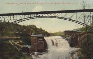 Lower Falls of Genesee River and Driving Park Ave, Bridge, Rochester, New Yor...