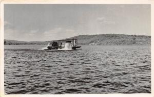 A67/ Bancroft Ontario Canada Postcard Real Photo RPPC Fishing Boat Lake