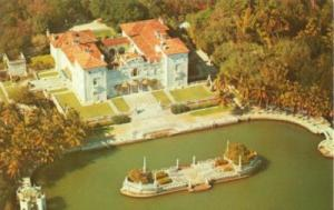 Vizcaya, Dade County Art Museum air view of the House, Mi...