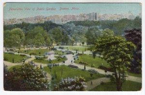 Boston, Mass, Panoramic View of Public Garden