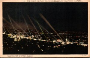 California Hollywood Bright Lights Of Hollywood Boulevard 1937