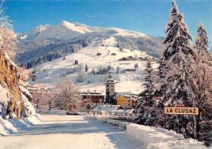 France La Clusaz, Sports d'Hiver En Arrivant a la Station Winter Panorama