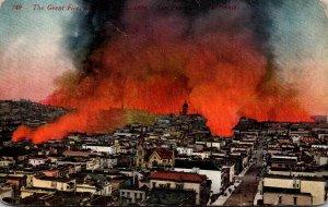 California San Francisco The Great Fire