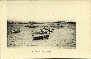 brazil, RIO DE JANEIRO, Baie, Scene of the Bay with Boats (1910s)