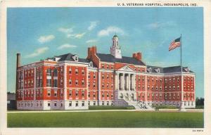 Indianapolis Indiana~U S Veterans Hospital~1940s Postcard
