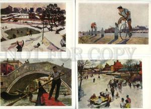142095 RUSSIA Socialism by OSSOVSKY Complete Set 12 Postcards