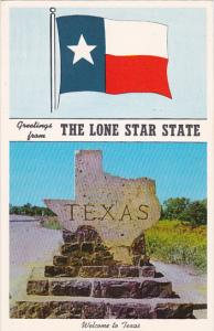 Texas Greetings From The Lone Star State Flag