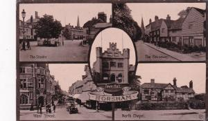 HORSHAM , Sussex , England , 1917 ; 5-View postcard