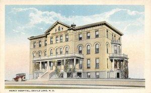 F94/ Devils Lake North Dakota Postcard c1910 Mercy Hospital