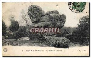 Old Postcard Dolmen Standing Stone Forest of Fontainebleau Sphinx Druids
