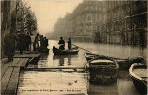 CPA PARIS Les Inondations 1910 Rue de LYON (578094)