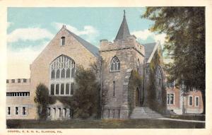 Clarion Pennsylvania Chapel Exterior Street View Antique Postcard K22411