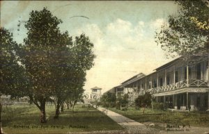 Mindanao Philippines Barracks & Fort Parang 1910 Used Postcard
