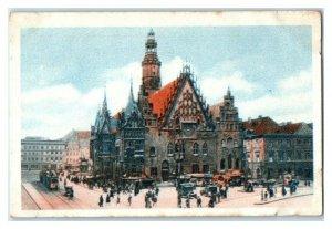 Breslau Rathaus Wroclaw, German Town Halls, Echte Wagner Trade Card *VT31W