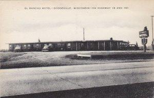 Wisconsin Dodgeville El Rancho Motel sk4581
