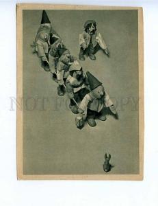 201802 GERMANY gnomes Saxony calendar 1946 vintage postcard