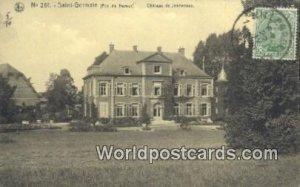Saint Germain Chateau de Jennevaux, Belgium 1920 Stamp on front