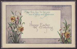 Happy Easter,Flowers Postcard
