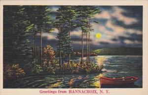 New York Greetings From Hannacroix 1950