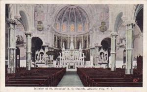 Interior Of Saint Nicholas R C Church Atlantic City New Jersey