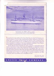 TSS Peten Cruise Ship Menu, White Fleet, At Sea, August 3, 1934,