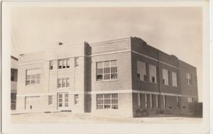 South Dakota SD Real Photo RPPC Postcard 1944 FAITH High School Building