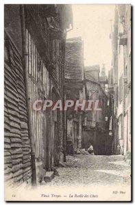Old Troyes Old Postcard Alley Cats