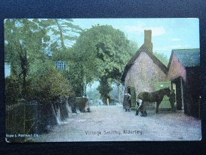 Gloucester Country Life ALDERLEY The Village Smithy - Old Postcard by Shurey's