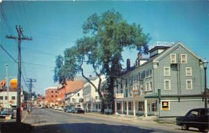 Belfast Maine~High Street (Route 1)~Storefronts~Shell Gas Station~50s Cars~Pc