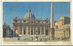 Italy, Roma,, Rome, St. Peter's, Vatican City, 1953 used Postcard