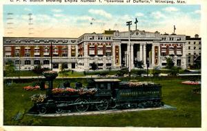 Canada - Manitoba, Winnipeg. CPR Station & Countess of Dufferin