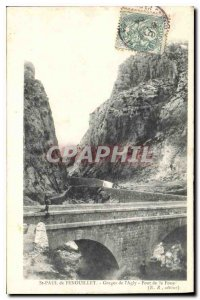 Postcard Old St Paul de Fenouillet Gorges Agly Bridge Fou?