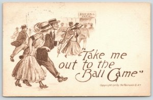 Artist~Take Me Out to the Ball Game~Couple Head to Baseball Park Gate~Fairman Co