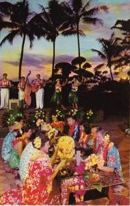 Hawaii Typical Hawaiian Luau At Sunset With Kalua Pig