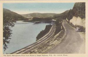 The Scenic Restigouche River From Route 6, Railroad Tracks, Gaspe Highway, Qu...