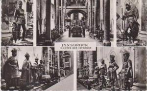 RP: 5 Views, Inneres der Hofkirche, Innsbruck, Tirol, Austria 1956