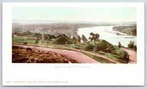 St Paul Minnesota~Birdseye~Indian Mounds Across Dirt Road~River~1900 Detroit Pun