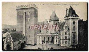 Old Postcard Pau Chateau Henry IV Main Facade