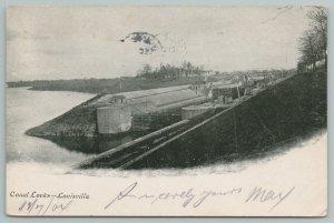 Louisville Kentucky~Canal Locks~Vintage Postcard
