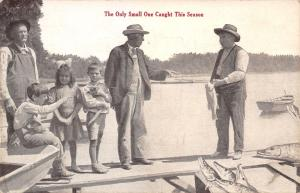 Auburn IN Publisher~Boy & Man Point @ Relatively Dinky Fish Catch~Un-Exaggerated