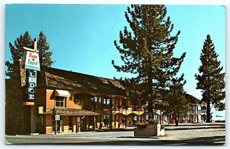 Postcard Ca Lake Tahoe Sun N Sand Lodge Kings Beach Hotel D16
