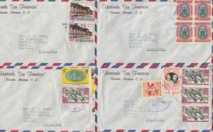 Hacienda Diriamba San Fransisco Hotel 4x Old Cover Envelope s