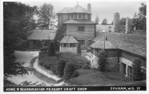 EPHRAIN WISCONSIN 1940s Home Scandinavian Pleasant Craft Shop RPPC 3938