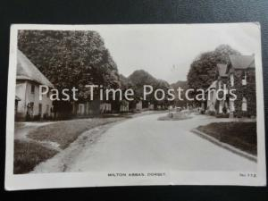 Dorset MILTON ABBAS - Old RP Postcard by Hobbs & Sons of Blandford 112