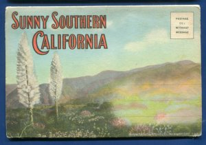 Sunny Southern California ca Roosevelt Hwy RR locomotive postcard folder #2