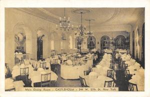 New York City~Castleholm Swedish Restaurant~Main Dining Room~W 57th~1940s PC