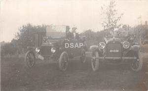 A20/ Automobile Real Photo RPPC Postcard c1910 Ohio Plates 2 Cars Men 18