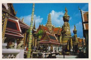 Thailand Bangkok Inside The Emerald Budda Temple