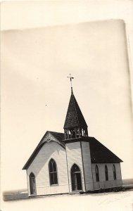 G29/ Tribune Kansas RPPC Postcard c1910 Baptist  Church Building 2